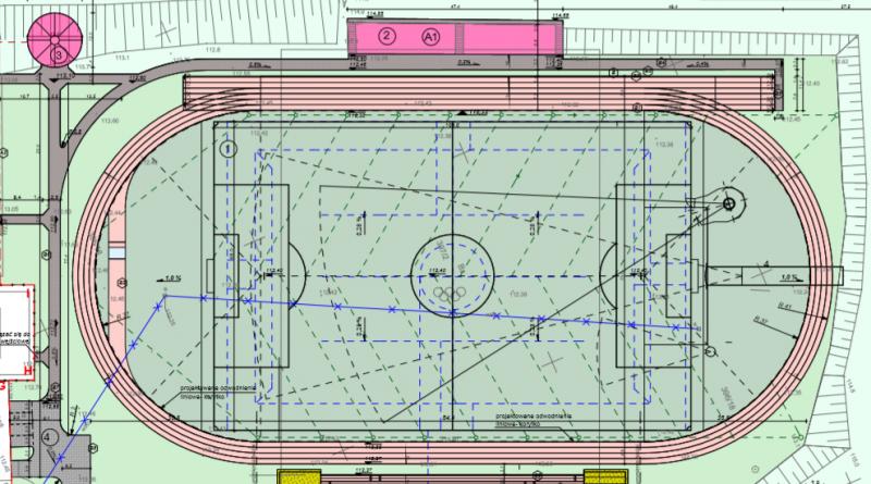 Plan zagospodarowania stadionu