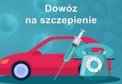 Transport do punktu szczepień  przeciwko wirusowi SARS-CoV-2